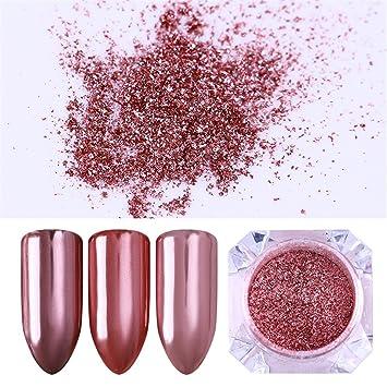 Amazon.com : BORN PRETTY 0.5g Nail Art Rose Gold Glitter Powder ...