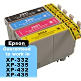 LATEST CHIP Compatible Epson 29XL Strawberry Ink Cartridges: 4-Pack of Compatible T2966 Inks for the Epson XP235, XP245, XP247, XP332, XP-335, XP342, XP345, XP432, XP435, XP442 & XP445