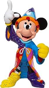 Enesco Disney by Romero Britto Fantasia Sorcerer Mickey Mouse Pointing Big Figurine, 14.8 Inch, Multicolor