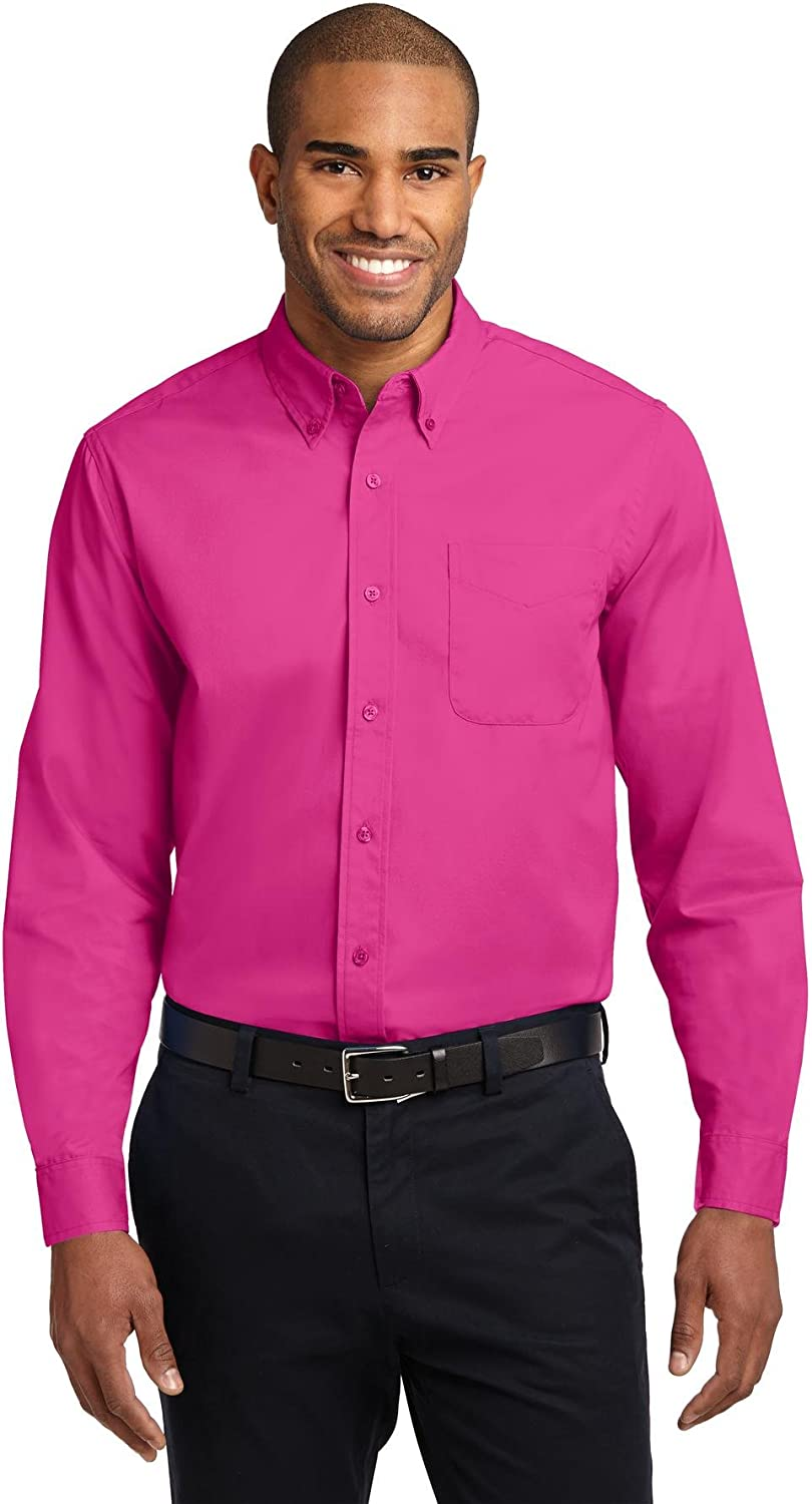 Port Authority Men's Long Sleeve Easy Care Shirt at  Men's Clothing store: Button Down Shirts