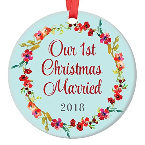 our 1st christmas married ornament newlyweds first xmas tree gift idea for new husband wife