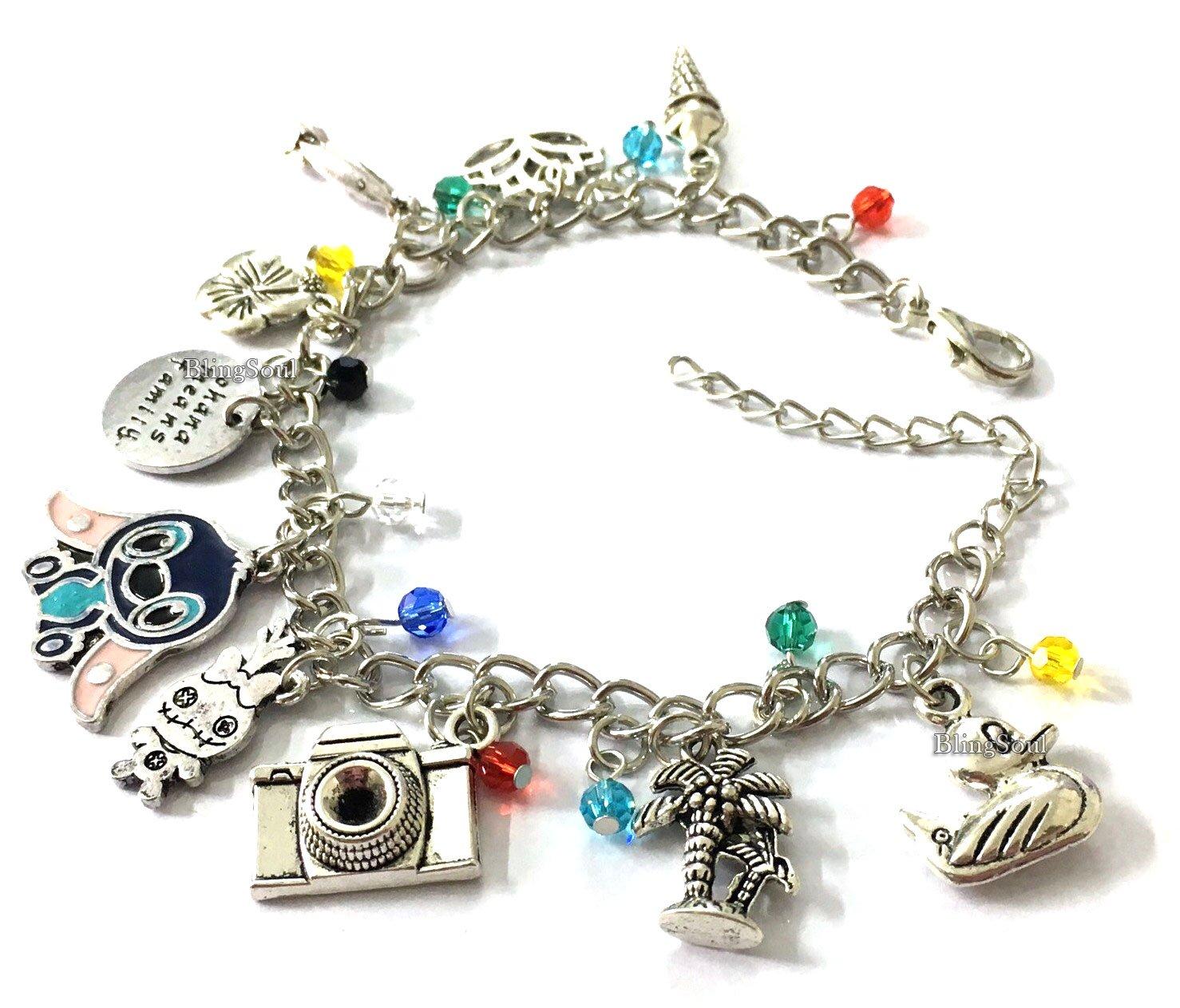 BlingSoul Lilo Stitch Jewelry Merchandise Gifts - Lilo Bracelets Disney Jewelry for Womens…