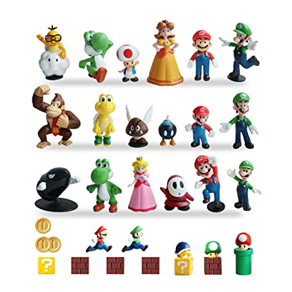 Amazon Com Hxdzfx 32 Pcs Super Mario Action Figures Super