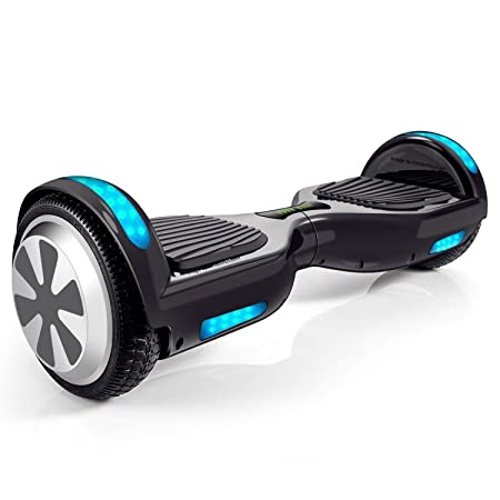 Hoveroid 6.5 Electric Self-Balancing Hoverboard Two-Wheel Scooter with Bluetooth Speaker with Side LED Lights UL2272 Certified
