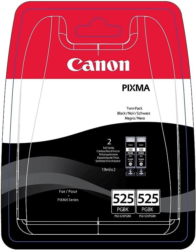 Canon Pgi 525 Pgbk Druckertinte Pigment Schwarz Doppelpack 2 X 19 Ml Für Pixma Tintenstrahldrucker Original Bürobedarf Schreibwaren