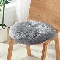 YOH Luxury Round 1.5 Feet Faux Fur Sheepskin Rugs Ultra Soft Fluffy Chair Cover Seat Cushion Pad Area Rugs Shaggy Wool…