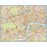 Central London Super Scale 2012 Wall Map: paper finish (120 x 97cm)