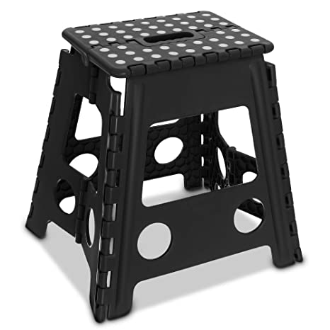 Enjoyable Livivo Folding Step Stool Compact And Lightweight Two Tier Anti Slip Stepping Stool Folds Flat With Carry Handle For Easy Storage And Transport Beatyapartments Chair Design Images Beatyapartmentscom