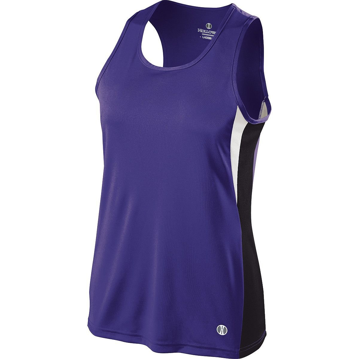Holloway Ladies Dry Excel Vertical Singlet (XX-Large, Purple/Black/White) by Holloway