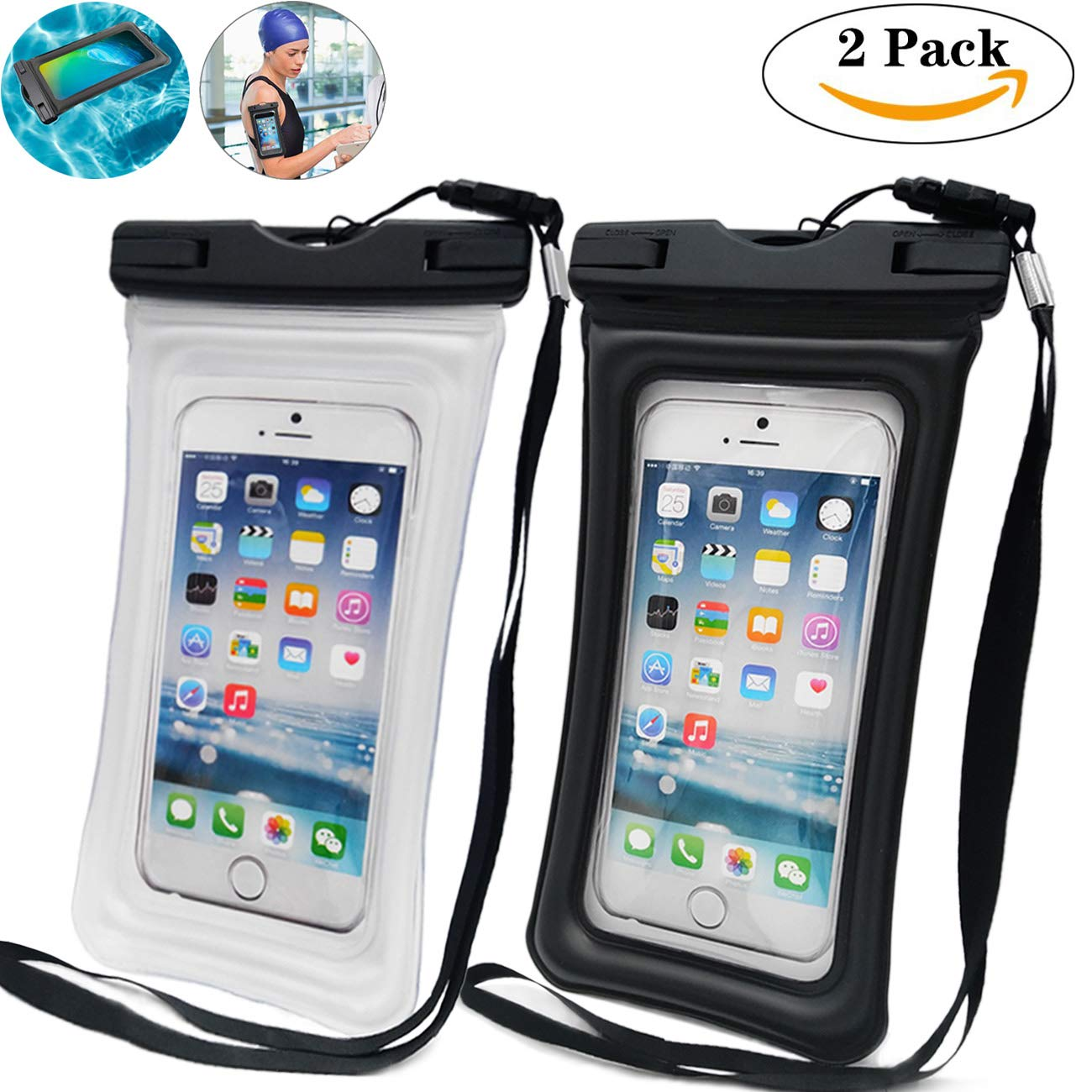 フローティングエアバッグインフレータブル防水携帯防水バッグ新しいタッチスクリーン防水透明防水携帯電話バッグ携帯電話防水カバー