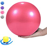 Pilates Ball, Barre Ball, Mini Exercise Ball, 9 Inch-Small Bender Ball for Pilates, Yoga, Core Training and Physical Therapy. Anti Burst & Slip Resistant Balance Ball with Quick Foot Pump (1pcs/2pcs)