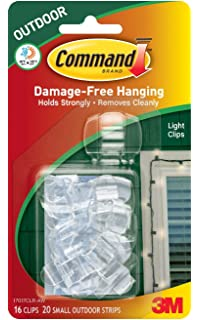 Amazon command outdoor light clips clear 16 clips 17017clr command outdoor light clips clear 10 clips aloadofball Choice Image