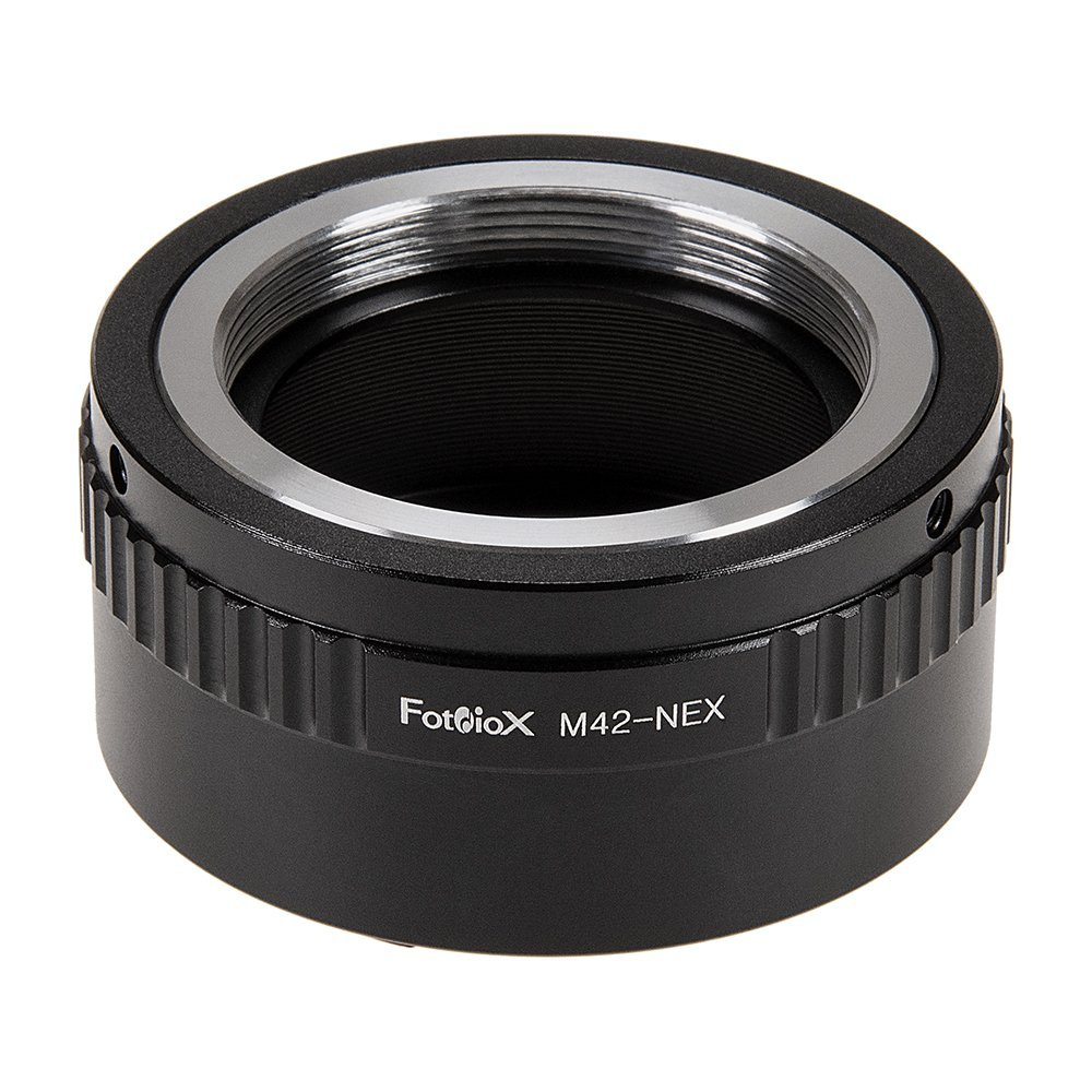 Fotodiox Lens Mount Adapter - M42 Type 2 (42mm x1 Screw Mount) to Sony Alpha E-Mount Mirrorless Camera Body