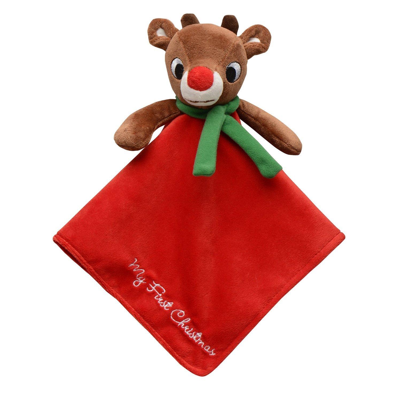 KESS InHouse Miranda Mol Reindeer Red Holiday Fleece Baby Blanket 40 x 30