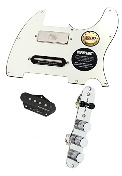 amazon com fender tele telecaster loaded pickguard duncan brent telecaster 3-way switch wiring diagram fender tele telecaster loaded pickguard duncan brent mason pickups parchment