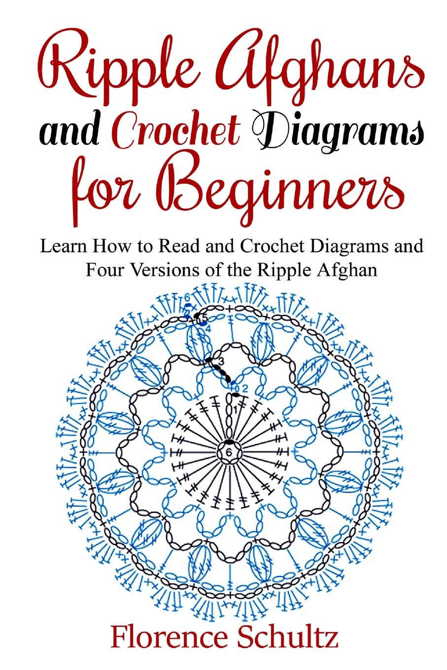 Crochet Tutorial Diagrams Symbols And Abbreviations For Beginners Ripple Afghans Learn How To Read Four Versions Of The Afghan Florence Schultz