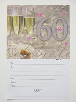 Image Unavailable Not Available For Colour 60th Birthday Party Invitations