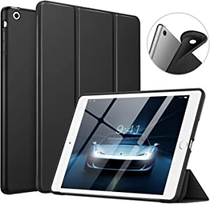 MoKo Case Fit iPad Mini 3/2/1, Slim Smart Shell Stand Folio Case with Soft TPU Back Cover Compatible with iPad Mini 1/Mini 2/Mini 3, Auto Wake/Sleep - Black