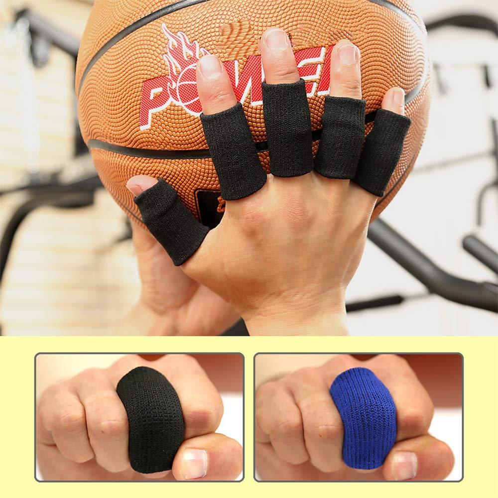 Supporto di Dito Protettore Sostegno di Dito Finger Sleeves per Pallacanestro Climbing Esercizio XDSP Pezzi Manicotti Elasticizzati Proteggi Dita per Basket 10 Pezzi Finger Dita Maniche Protector
