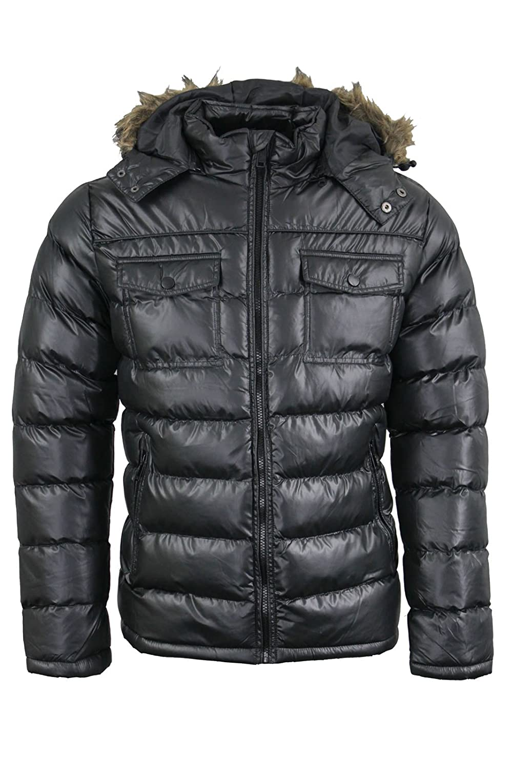 Brave Soul Mens Lightweight Puffer Quilted Padded Puffa Winter Jacket AW1718