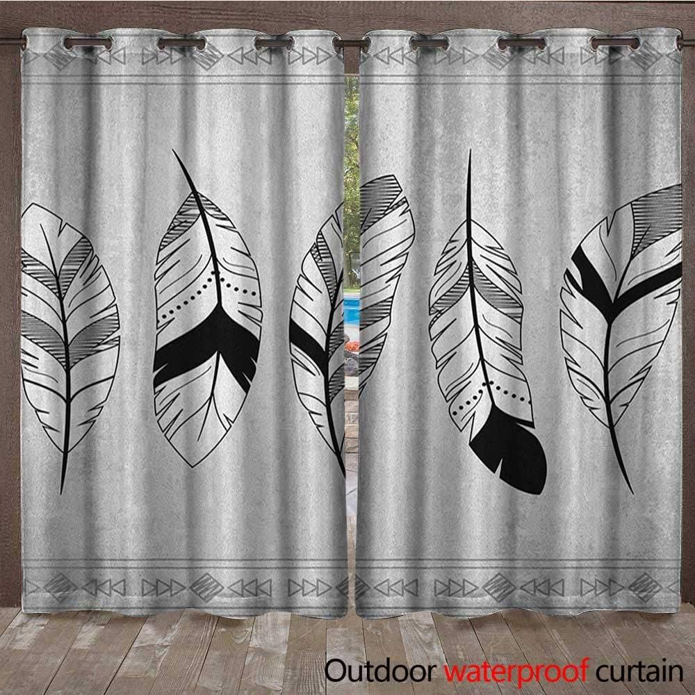 Cortina Superior con Ojales de Plumas y diseño de Flechas de ...