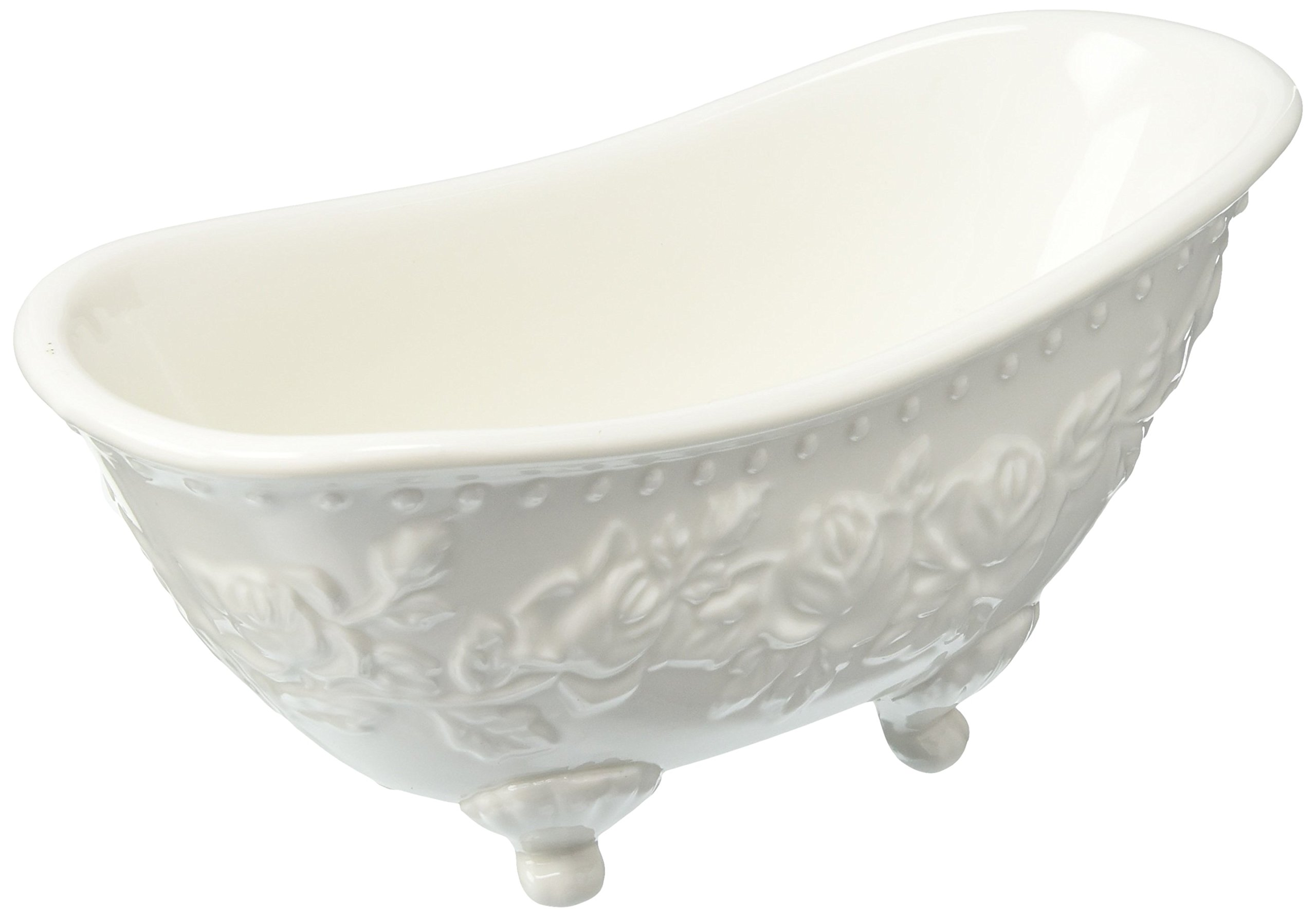Abbott Collection Bathtub Soap Dish, White by Abbott Collection (Image #1)