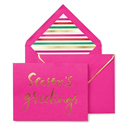 Amazon kate spade new york holiday card set seasons kate spade new york holiday card set seasons greetings m4hsunfo