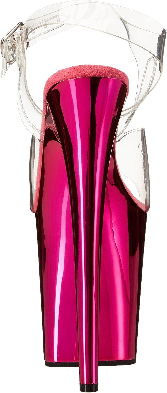 Pleaser Flamingo-808, Sandales Plateforme Femme Transparent