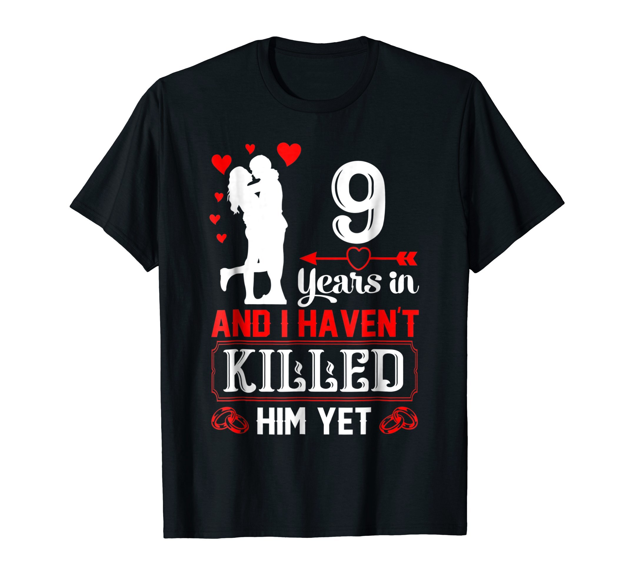 9 Years Wedding Anniversary Gift Idea for Wife Funny shirt