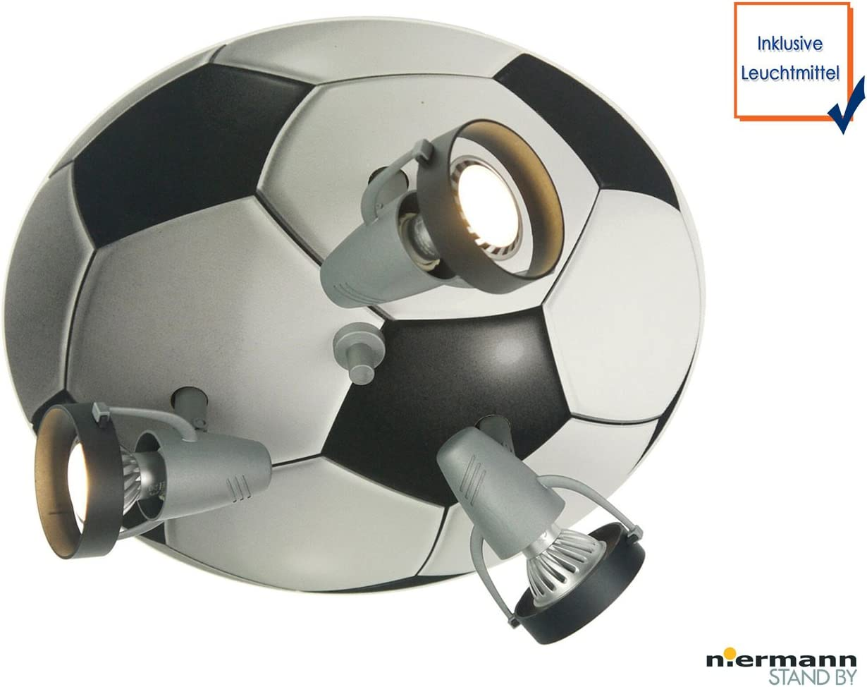 LED de techo Foco para fans de fútbol, con 3 focos LED orientables ...