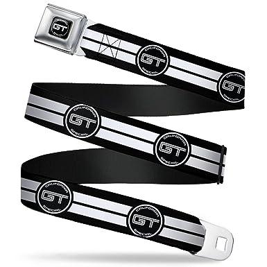 Buckle Down Seatbelt Belt Ford Gt California Special Emblem Stripe Black White