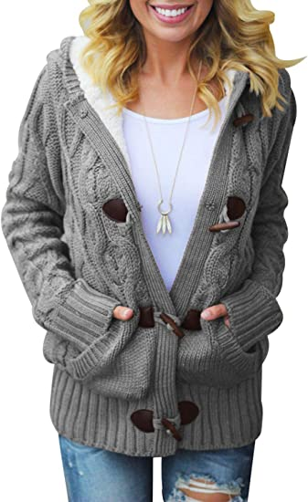 Striped Button Basic Casual Open Front 3//4 Sleeve Pockets Layer Cardigan Sweater