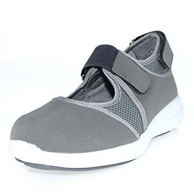 7f033a41b4b8 Mens Lightweight Mary Jane Velcro Strap Cut Out Walking Sports Trainers -  Grey - UK8