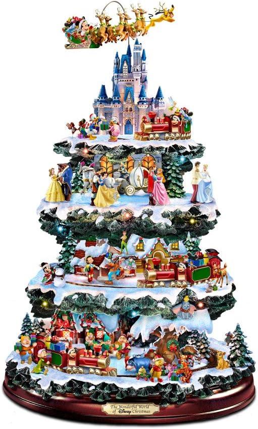 Addobbi Natalizi Disney.The Bradford Exchange Centrotavola Disney A Forma Di Albero Di Natale Amazon It Casa E Cucina