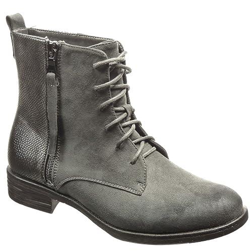 Angkorly - Zapatillas Moda Botines botas militares mujer piel de serpiente cremallera Talón Tacón ancho 3 CM - plantilla Forrada de Piel: Amazon.es: Zapatos ...