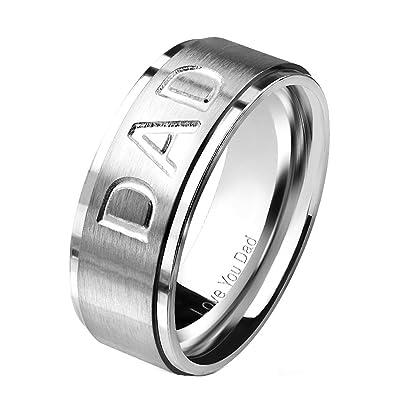 9b0329d32807 beyoutifulthings Mom Dad dedos de anillo grabado joyas de cinta ...