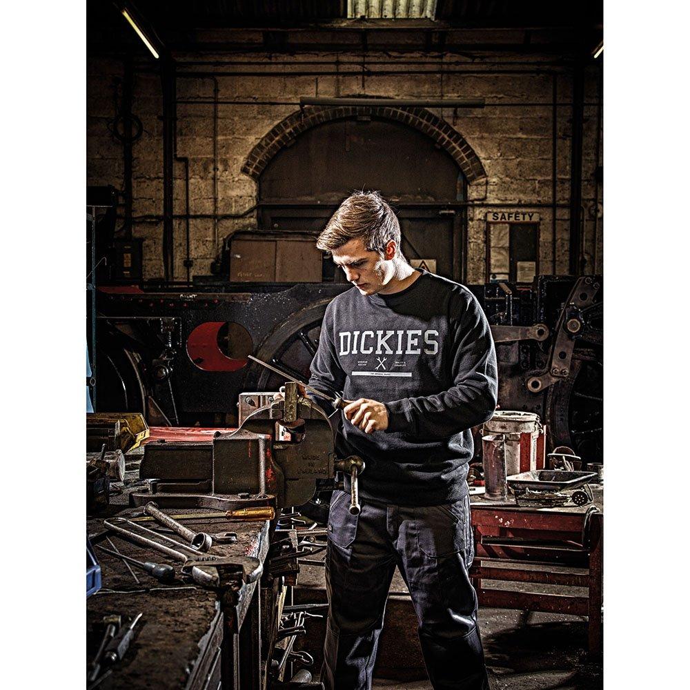 Dickies Mens Jansen Polycotton Crew Neck Printed Logo Sweatshirt