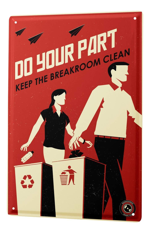 Blechschild Sprüche Keep clean