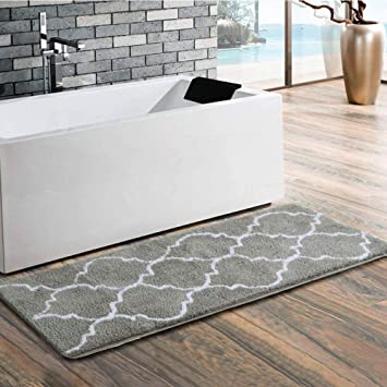 Amazon Com Uphome Trellis Moroccan Extra Long Bathroom Rug