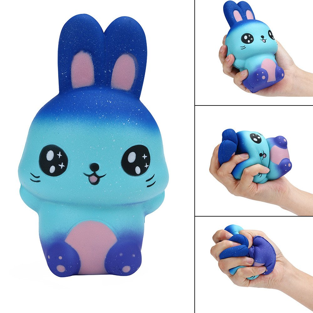Choosebuy❤️ Squishies Jumbo Cute Galaxy Rabbit Scented Slow Rising Stress Relief Kawaii Toys Xmas Christmas Collection Gift (A)