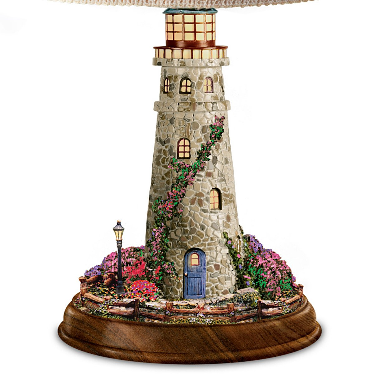 Thomas Kinkade Lamp With The Village Lighthouse Artwork On Shade And Lighthouse Base by The Bradford Exchange by Bradford Exchange (Image #3)