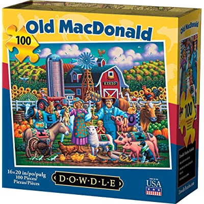 Dowdle Jigsaw Puzzle - Old Macdonald - 100 Piece: Toys & Games