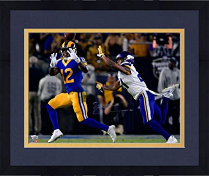 9398d610066 Framed Brandin Cooks Los Angeles Rams Autographed 16 quot  x 20 quot  Blue  Catching Photograph -