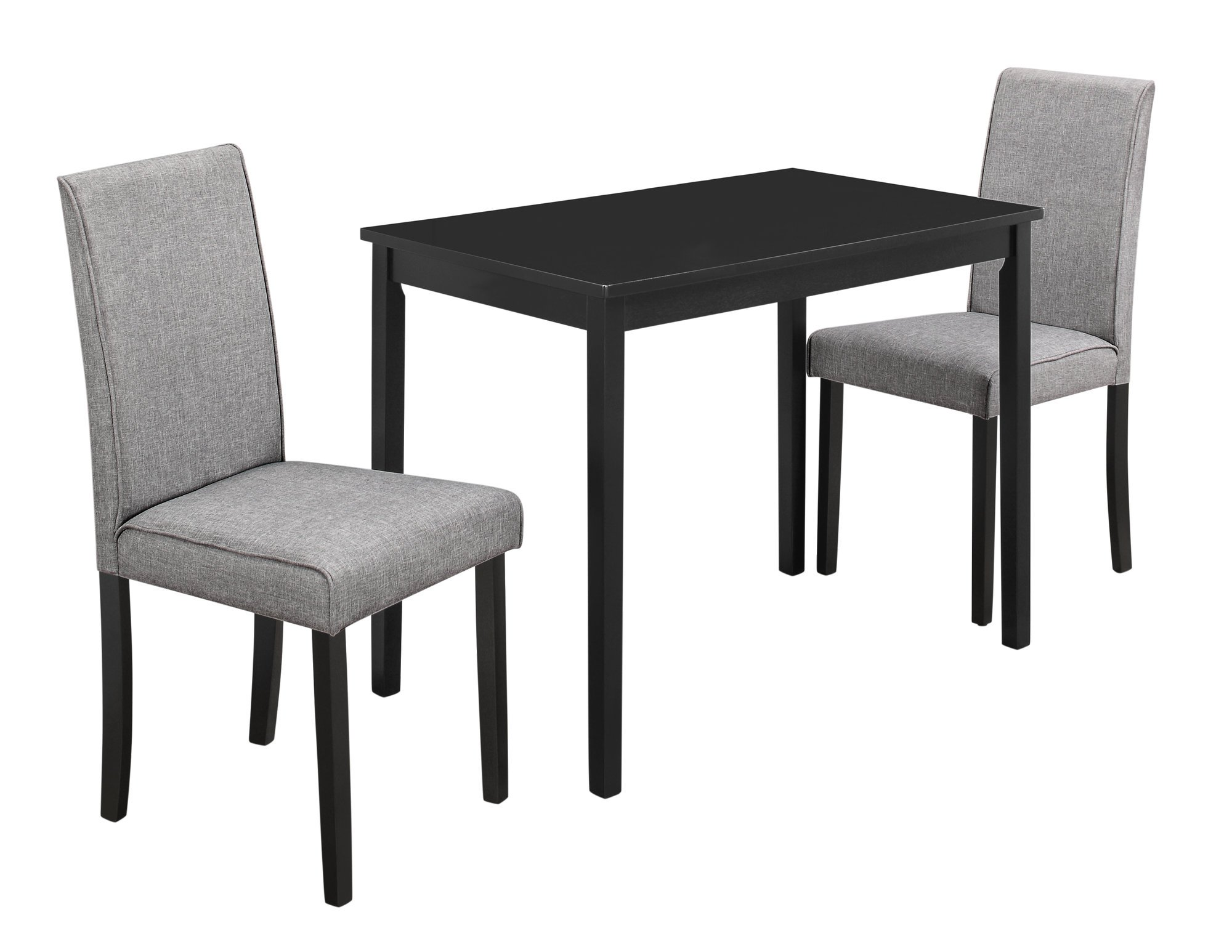 Monarch Specialties I 1016, Dining Set Set, Parson Chairs, Black/Grey, 3pcs by Monarch Specialties (Image #2)