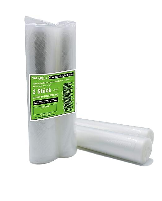 Bolsas de envasado al vac/ío para alimentos 100 bolsas de 25x35cm Bolsas de envasado al vac/ío texturizadas con estructura