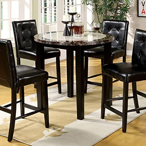 Miraculous Furniture Of America Cm3188Pt 40 Atlas Iv 40 Round Counter Height Dining Tables Gmtry Best Dining Table And Chair Ideas Images Gmtryco