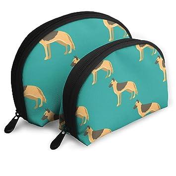 3956f78ae76d Amazon.com : SINOVAL Funny Cartoon Shepherd Dog Toiletry Bag ...