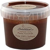 Pasta di Nocciole Mortarella 100% pura per Gelati, Creme, per Caffè e usi vari in Pasticceria Senza Glutine 500h