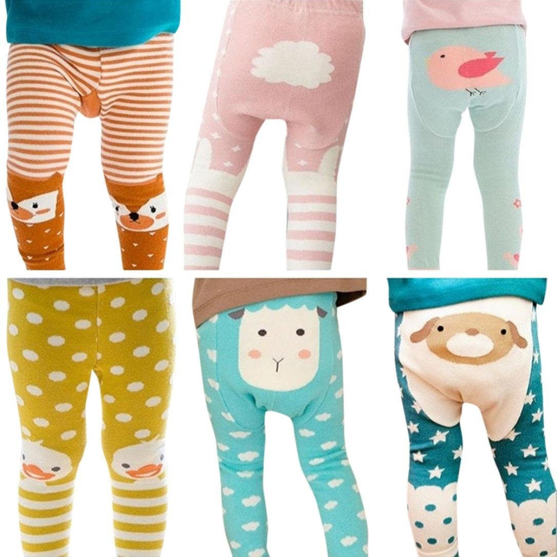 Sunbona Toddler Baby Boys Girls Cartoon Bottoms PP Pants Autumn Cotton Warm Trousers Clothes