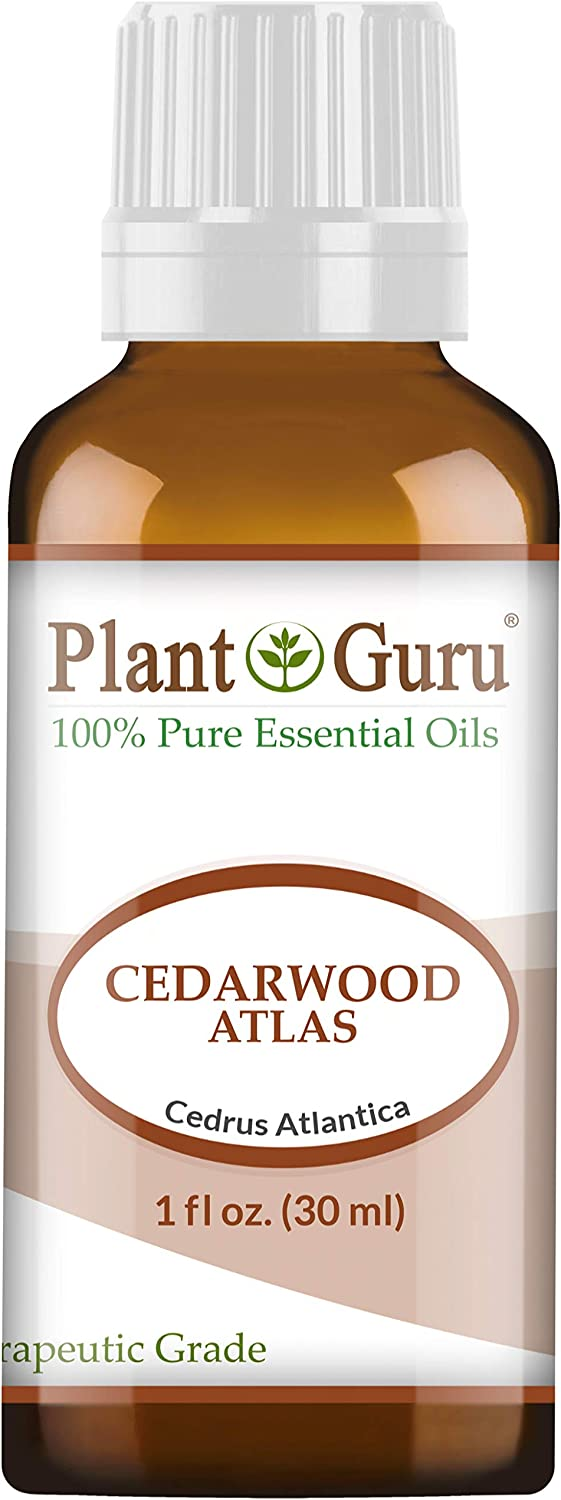Cedarwood (Atlas) Essential Oil 1 oz / 30 ml 100% Pure Undiluted Therapeutic Grade for Skin, Body and Hair Growth. Great for Aromatherapy Diffuser and DIY Soap Making
